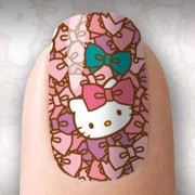 Varias Hello Kitty com fundo rosa